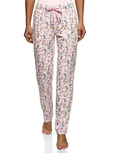 Oodji Ultra Mujer Pantalones Estampados Estar Casa