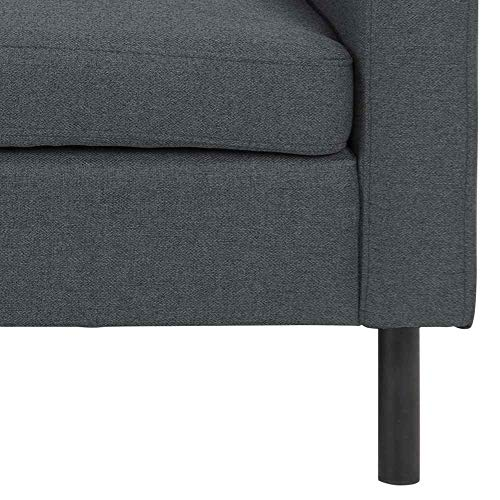 AC Design Furniture Hedvig Sillón, Fabric, Negro, L: 102 x W: 93.5 x H: 107 cm