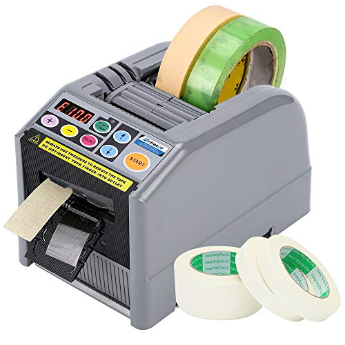 Frifreego Automatic Tape Dispenser Electric Tape Cutting Machine with 999mm Maximum Cutting Length Tape Adhesive Cutter Intelligent Packing Equipment for Various 6-60mm Width Tapes