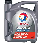 TOTAL 188058-3PK Quartz INEO Long Life 5W-30 Engine Oil - 5 Quart (Pack of 3)
