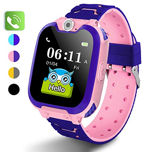PUBU Kids Smart Watch Phone for Girls and Boys Age 4-16 (4 Colors), Make Call Without Cellphone, Smart Watch for Kids-Kids Game Watch with SD Card-Kids Waterproof Smartwatches