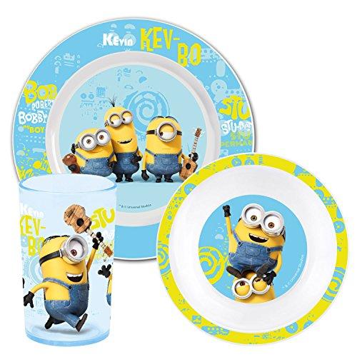 MINIONS Movie 2015 Kinderservice mit Teller Müslischüssel und Trinkbecher