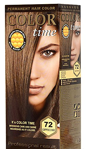 Color Time Haarfarbe Permanent, mit Gelée royale, 72 Cappuccino