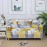 Funda de sofá elástica con impresión, sofá de Esquina, Fundas de sofá elásticas, Fundas de sofás Modernos nórdicos para Sala de Estar A11 de 2 plazas