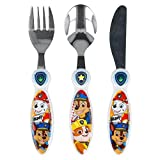 Paw Patrol Children's Kids 3pcs Cutlery Set, Knife/Fork/Spoon