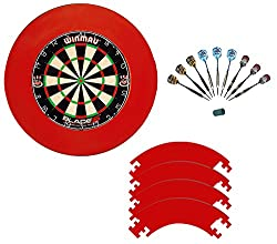 Winmau Blade 5 with 9 McDart Steeldarts and red catchring