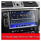Shutters Protector de Pantalla Protectora de Cristal Templado Fit para Renault Kadjar 2016-2019 Coche GPS Accesorios de navegación (Color Name : For Kadjar 9inch)