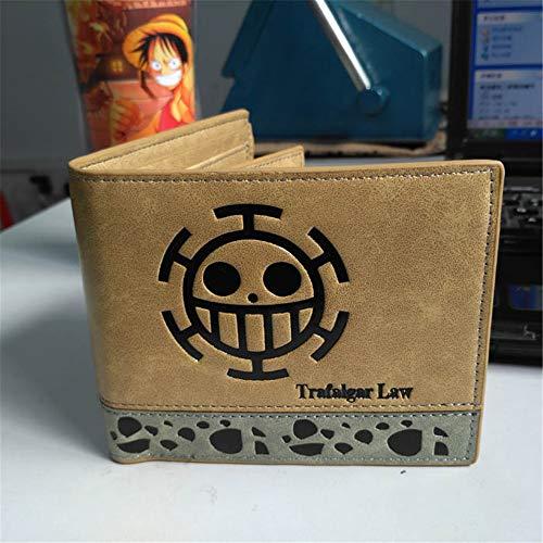 NUANDI Anime Wallet One Piece Carteras De Juegos Cosplay School Students Money Bag Titular De La Tarjeta Bifold Monedero para