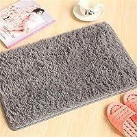 バスマット バスルームには滑り止めバスマット浴室カーペットマット快適な入浴パッドラージサイズベッドルームバスルームラグ (Color : Gray)