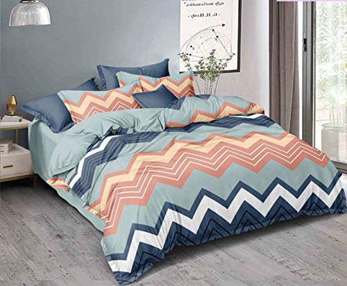 Mil Furnishings Premium Polycotton Queen Size Elastic Fitted Bedsheets with 2 Pillow Covers