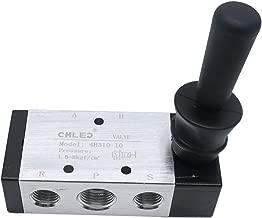 Sydien 3/8PT Air Solenoid Valve Manual Control Valves, 5 Port 2 Position, Aluminum Alloy