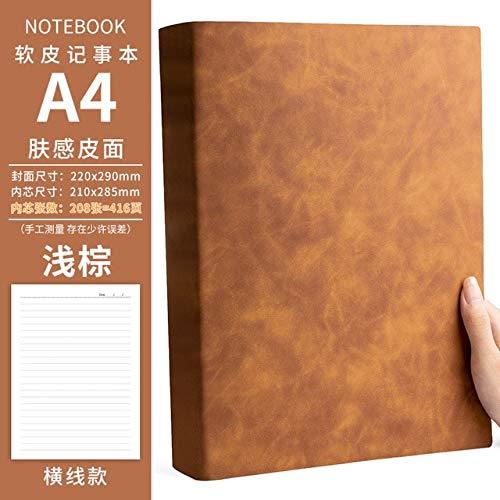 Piel suave espesa el cuaderno del diario en blanco rayado Oficina de Grandes Empresas Notebook Agenda Organizador portátil del cuaderno