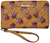 Betsey Johnson Women's Z/A Floral Wristlet/Wallet Mustard/Yellow