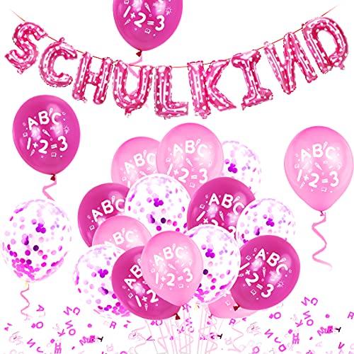 Einschulung Deko, Schulkind Deko, Einschulung Luftballon, Einschulung Ballon, Schuleinführung Deko, Einschulungsdeko Girlande, Einschulung Mädchen deko, Schulanfang Mädchen deko, Einschulung Deko Set