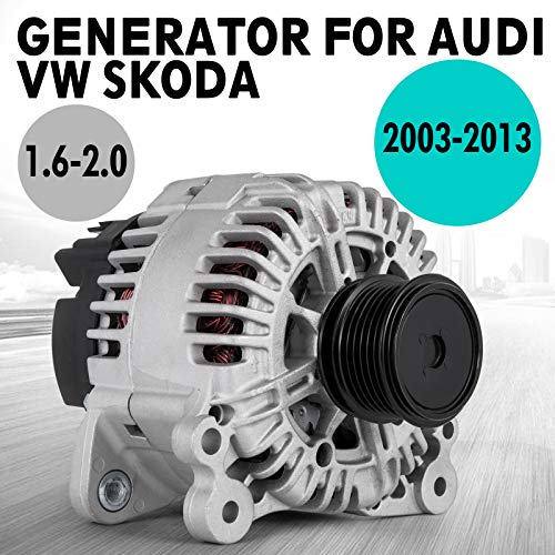 Mophorn Generador de Alternador de Coche DC 14V Can 140A para Volk-s-wa-gen Se-a-1.9 2.0 TDI Au-di A1 A3
