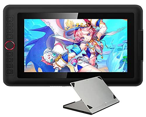 Xyfw Tableta Gráfica De 11,6 Pulgadas Tableta De Dibujo con Soporte Y Estuche Monitor Pantalla Animación Arte Digital con Inclinación 8192 Presión