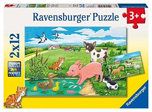 Ravensburger - 07582 9 - Puzzle - Bébés Animaux De La Terre - 2 x 12 Pièces