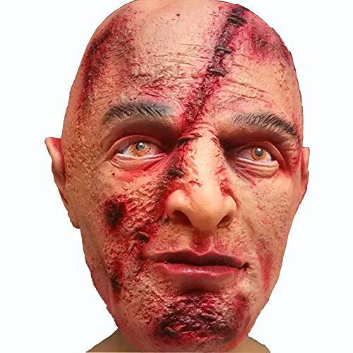 NLBZ Halloween Horror Latex Maske Scar Rotten Gesicht voller Kopfbedeckung Horror Ausländer-Geist Horror Zombie Latex Kopfbedeckungen
