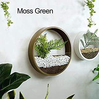 SHE'S HOME Hanging Planter Vase Geometric Wall Decor Container - Great for Mini Cactus, Faux Plants, 10