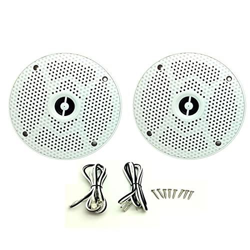 XINXI-YW Haut-parleurs Bluetooth 6.5 Pouces 2 Way 160w étanche Bateau Marin de Bateaux de Bateau Moto pour tracteurs Heavyduty de Voiture extérieure