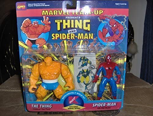 Marvel Team-up Thing and Spiderhomme by Toy Biz