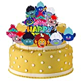 wopin Cake Decoration 7 PCS Cupcake Toppers Decoración Tarta Cumpleaños De Pastel con Muñeca Trolls para Pastel Fiesta Boda y Cumplea