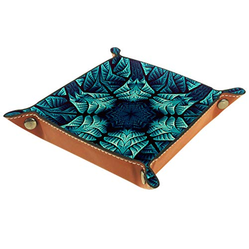 Buganvillas verdes Boîte de rangement panier organisateur de bureau plateau décoratif approprié pour bureau à domicile tiroir tiroir coiffeuse 16x16cm
