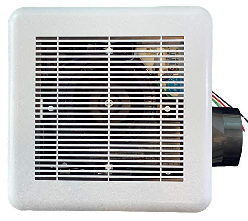 ESD Tech Quiet Bathroom Exhaust Fan with Adjustable Humidity Sensor & Timer –0.7 Sones, 80 CFM, White Grill, 4-Inch Duct, Energy Star, ETL Listed