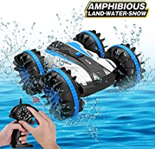 Joyfun Toys for 5-10 Year Old Boys Amphibious RC Car for Kids 2.4 GHz Remote Control Boat Waterproof RC Monster Truck Stunt Car 4WD Remote Control Vehicle Girls All Terrain Christmas Birthday Gifts