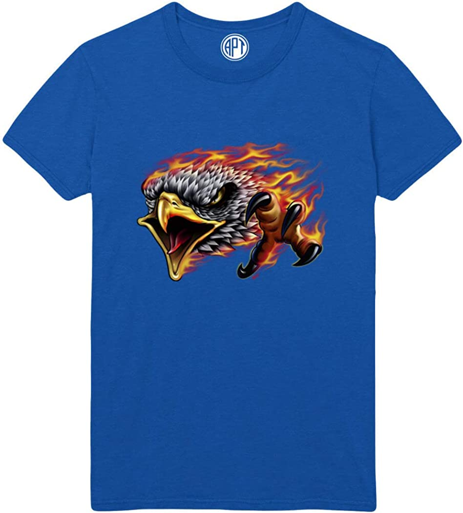 Flaming Eagle with Claw Printed T-Shirt