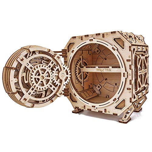 Wood Trick Safe Wooden Model Kit for Adults and Kids to Build - DIY Locker Puzzle Box with Combination - Mechanical - Store Your Precious Items - Heavy Duty Design - 3D Wooden Puzzle