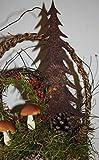 Rostikal | Deko Tannenbaum zum Stecken aus Metall | Edelrost Weihnachtsdeko | 25 cm hoch