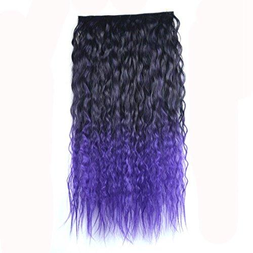 Extensión del cabello 60 cm Gradiente de color Extensión del bollo del pelo Maíz Hot Five Card Pieza de la peluca Natural Realista Seamless Curl Extensión del pelo Pelucas de pelo humano