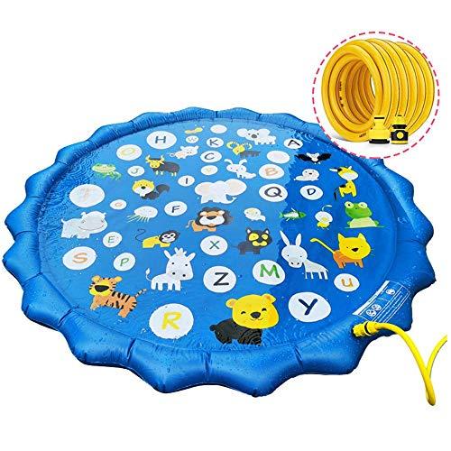 JIAMING Sprinkler Pad for Kinder Water Splash Spiel-Matten-Sommer-Kunststoff-Spray Mat Rasen Strand-Spiel Spielzeug Strand Wasser-Spray-Mat Spielzeug Spiele im Freien Garten (Color : B)