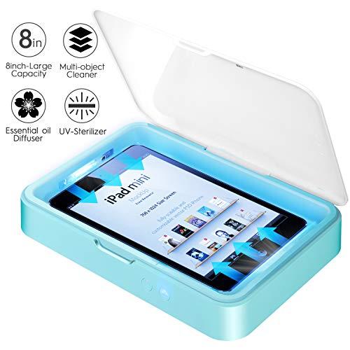 IFLOVE Handy Sterilisator UV-Licht Smartphone-Reiniger Aromatherapie Funktion mit großer Kapazität Desinfektionsmaschine für Android iPhone iPad Mini… (Weiß)