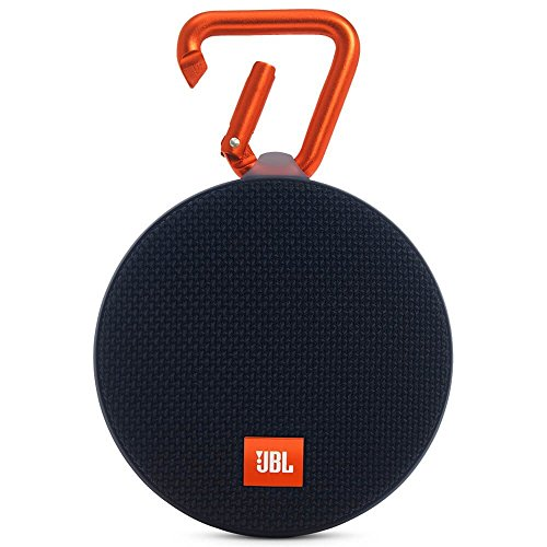 JBL Clip 2 Waterproof Portable Rechargeable Bluetooth Wireless Speaker with Mic, Black (Non-Retail Packaging)