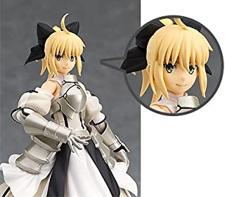 Max Factory [Fate / Grand Order] figma Saber/Altria Pendragon [Lily] (Non-scale ABS & PVC painted finished figure) with a bonus smiling face plate (Japan Import)