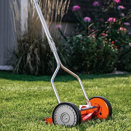 American Lawn Mower Company 1204-14 14-Inch 4-Blade Push Reel Lawn Mower, Red