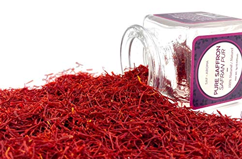 Safaroma Saffron Threads | 1gram (0.036 oz) = 150 Servings | Premium All-Red Saffron for Rice Dishes, Paella, Desserts, Teas, Smoothies, Cakes & Marinades | Known as زعفران, Kesar, Azafran, Zafran
