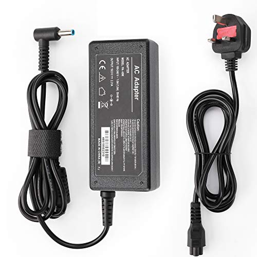 HP 45W Laptop Charger, LEMARCH 19.5V 2.31A Laptop Power Adapter with Power Cord Supply Replacement for HP Elitebook Folio, Spectre Ultrabook, Pavilion Touchsmart and More(4.5mm X 3mm)