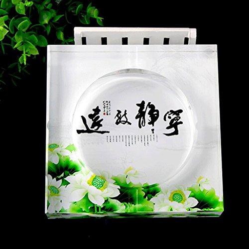Aschenbecher Aschenbec Kristall Kreative Persönlichkeit Trend multifunktionale Nette Schlafzimmer Wohnzimmer Glas Extra Große Aschenbecherbehälter (Color : A, Size : Diameter 20cm)