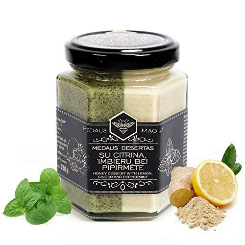Rauwe honing met citroen, gember en pepermunt - biologische honing - zo gezond als Manuka-honing uit Nieuw-Zeeland - echte bloesemhoning