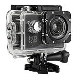 ASHOPES Waterproof Full HD 1080P Sports Action Camera DVR CAM DV Video Camcorder (Black)