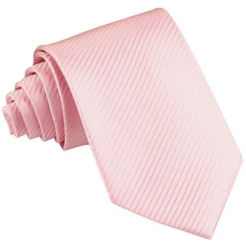Panegy Herren Krawatte Casual Streifen Seide gewebt Krawatten für Hochzeit Slim Tie Business Schlips - Rosa