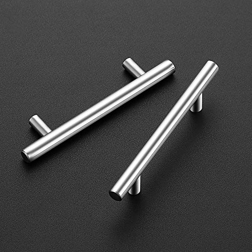 "40 Pack | 5'' Cabinet Pulls Brushed Nickel Stainless Steel Kitchen Cupboard Handles Cabinet Handles 5""Length, 3"" Hole Center"