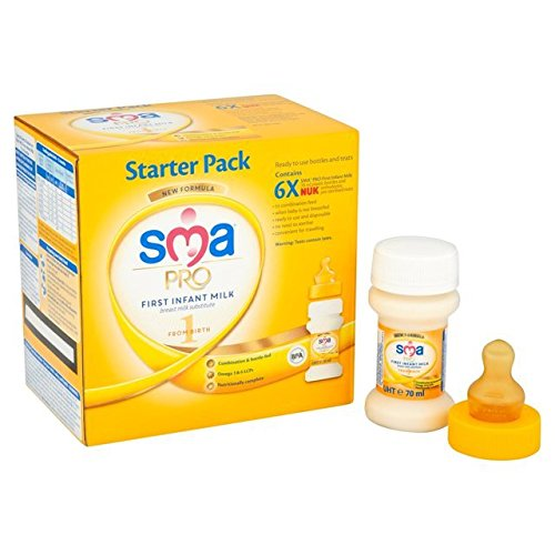 SMA First Infant Milk Starter Pack Stage 1 From Birth 6 x 100ML