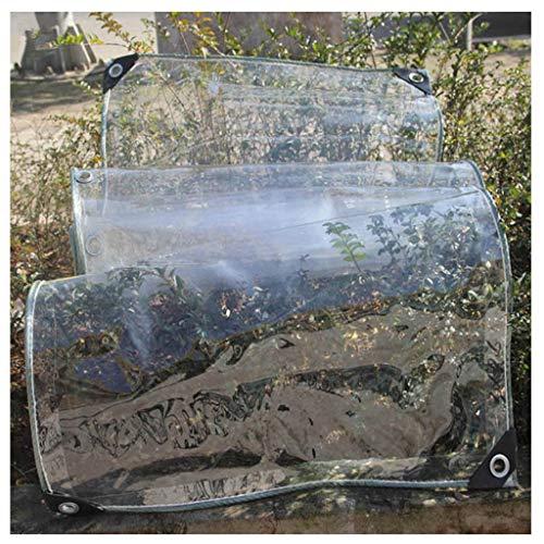 Bâche claire, double épaissie épaisse de PVC lourd imperméable à l'eau de protection solaire auvent de poncho de balcon tissu extérieur résistant à la poussière de camping extérieur bâche transparente