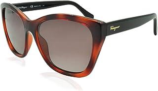 Salvatore Ferragamo Brown Cat Eye Ladies Sunglasses SF957S 214 56