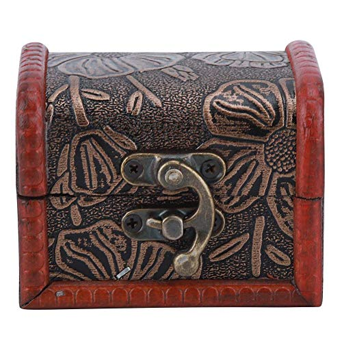 Cafopgrill Vintage houten juwelendoos borstversiering opslag houten kist geval organisator halsketting