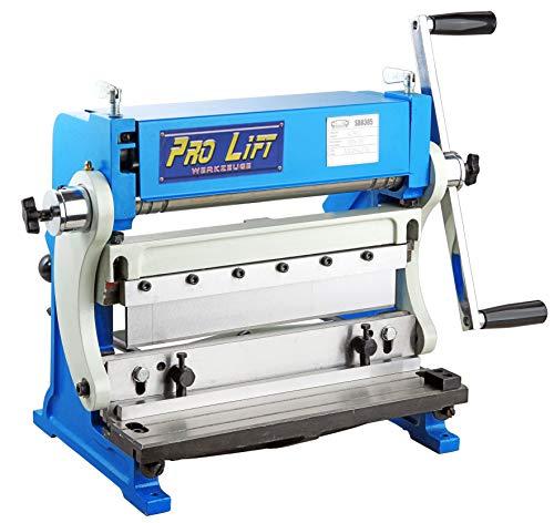 Pro-Lift-Werkzeuge Universal-Blechbearbeitungsmaschine 3in1 305 mm x 1,0 mm Bearbeitungsgerät Rundbiegen Abkanten Schneiden Blechbearbeitungs-Maschine Blechgröße 305mm